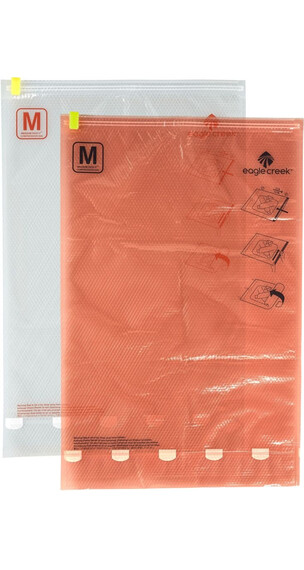 Eagle Creek Pack-It Compression Sac Set M/M Clear/Flame Orange